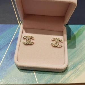 Vintage Coco Chanel earrings classic logo